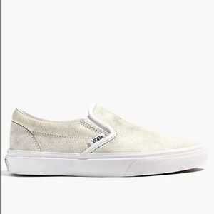 Madewell x Vans Crackle Leather Slip Ons